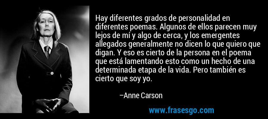 Anne Carson frases