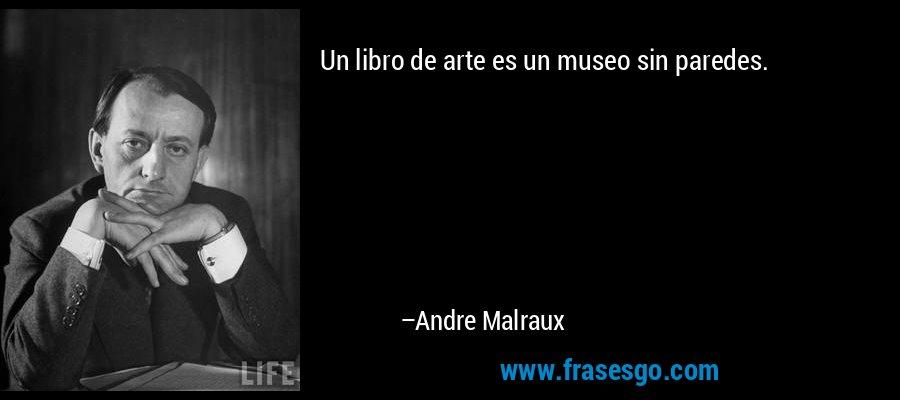Un libro de arte es un museo sin paredes. – Andre Malraux