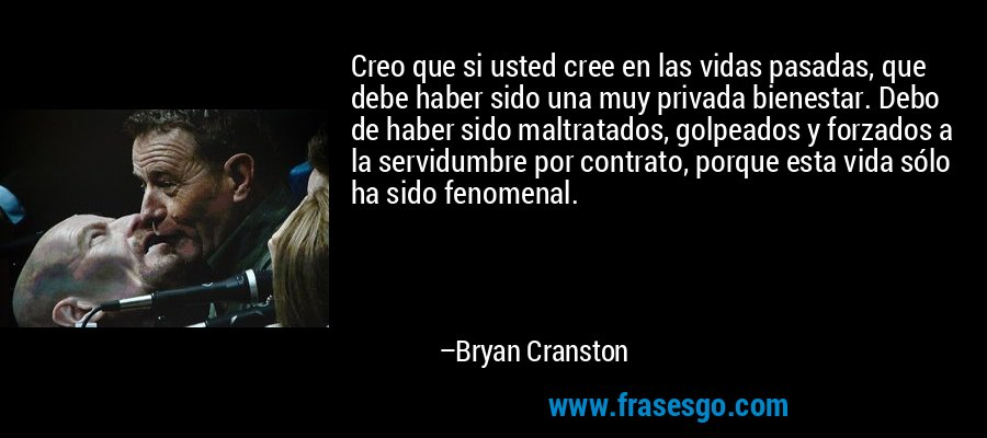 Creo que si usted cree...