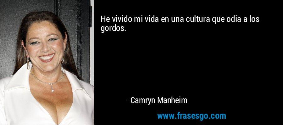 He vivido mi vida en una cultura que odia a los gordos. – Camryn Manheim