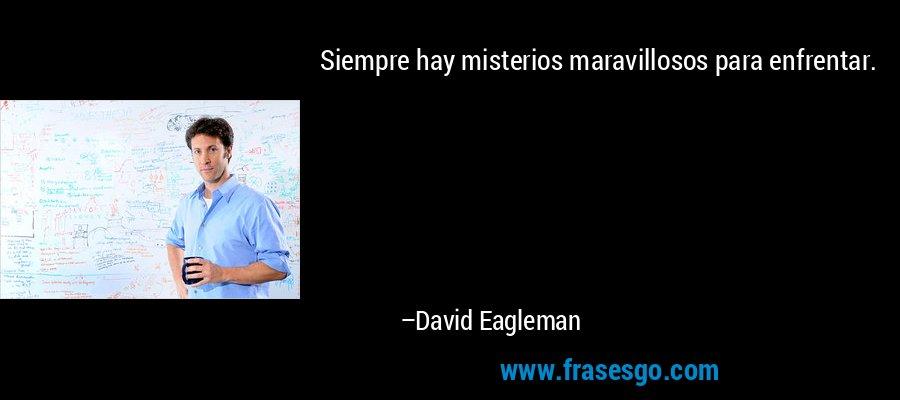 Siempre hay misterios maravillosos para enfrentar. – David Eagleman