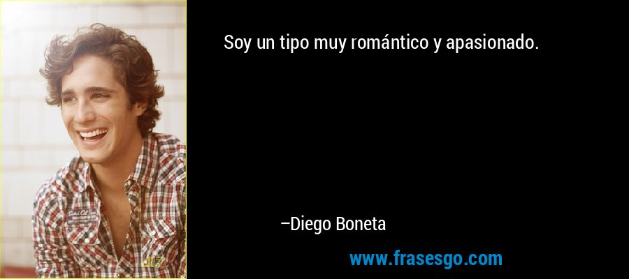 Soy un tipo muy romántico y apasionado. – Diego Boneta