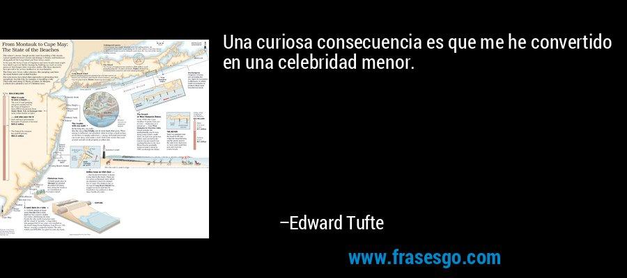 Una curiosa consecuencia es que me he convertido en una celebridad menor. – Edward Tufte