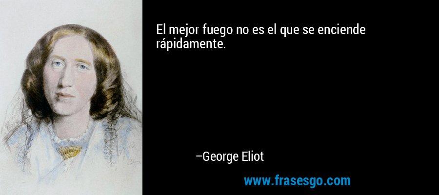 El mejor fuego no es el que se enciende rápidamente. – George Eliot