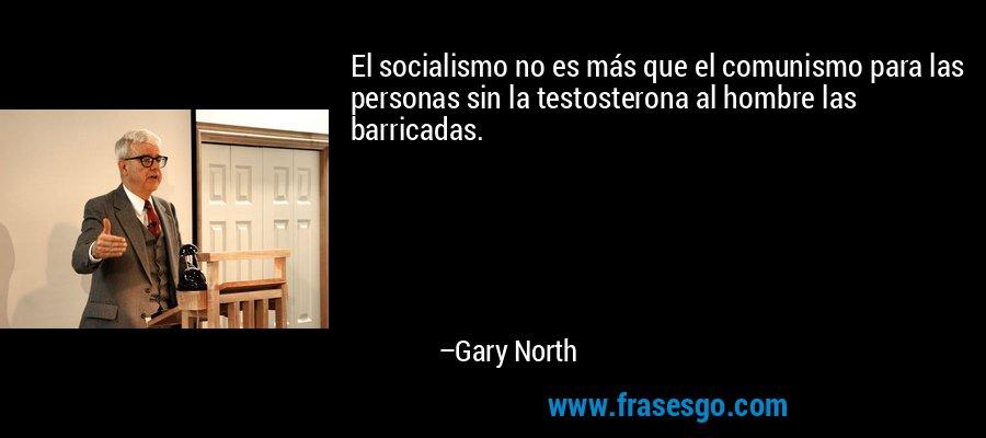 El socialismo no es más que el comunismo para las personas sin la testosterona al hombre las barricadas. – Gary North