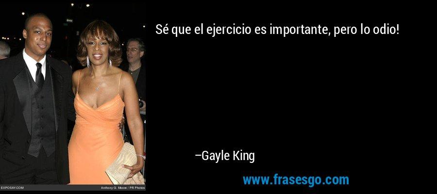 Sé que el ejercicio es importante, pero lo odio! – Gayle King