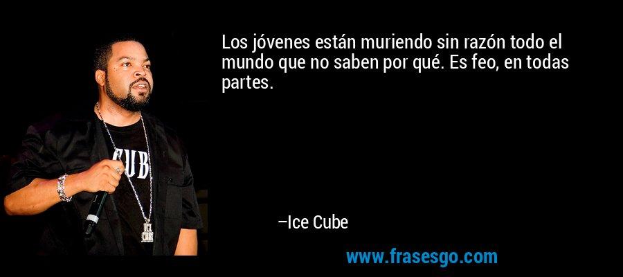 Los jóvenes están muriendo sin razón todo el mundo que no saben por qué. Es feo, en todas partes. – Ice Cube