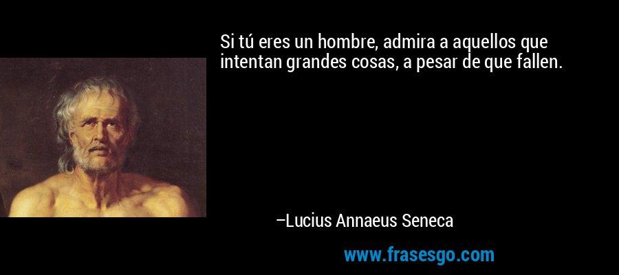 Si tú eres un hombre, admira a aquellos que intentan grandes cosas, a pesar de que fallen. – Lucius Annaeus Seneca