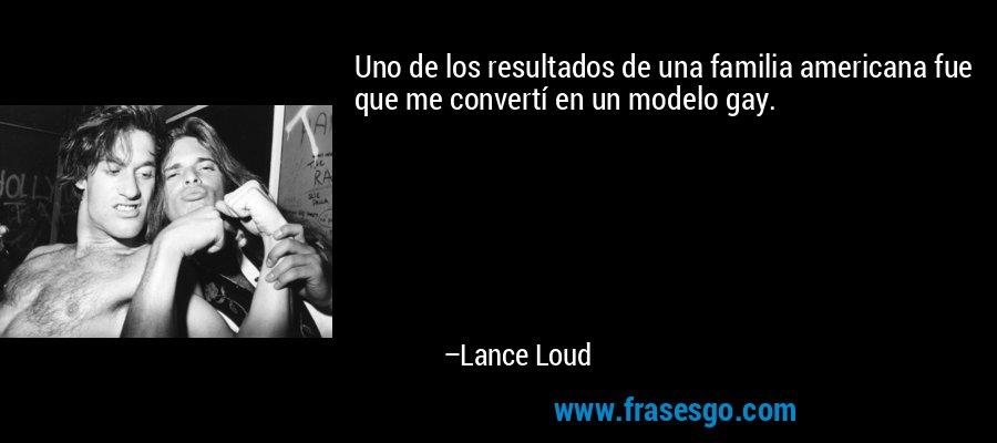 Uno de los resultados de una familia americana fue que me convertí en un modelo gay. – Lance Loud