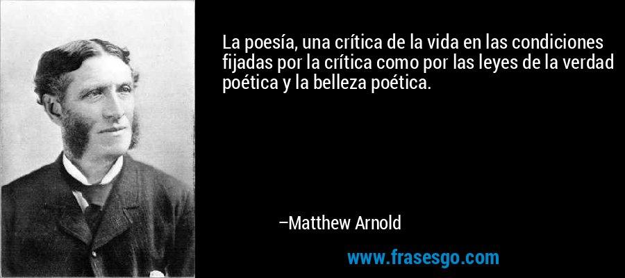 Matthew arnold as critic