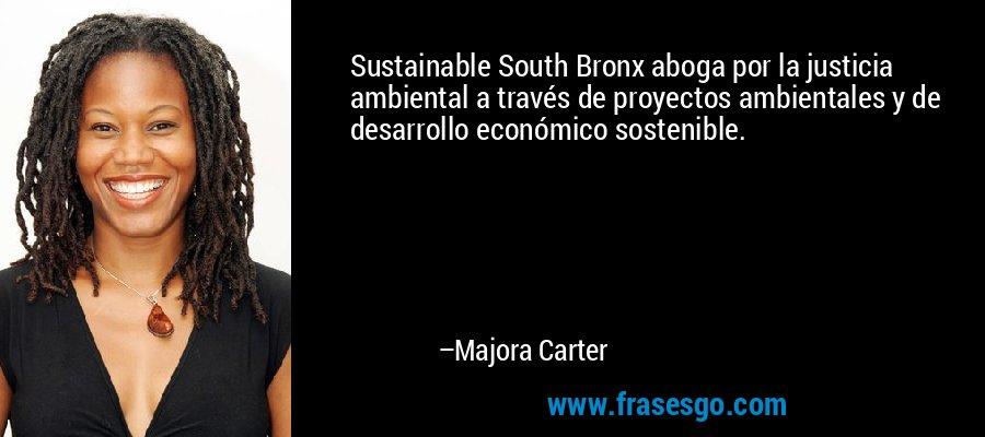 Sustainable South Bronx aboga por la justicia ambiental a través de proyectos ambientales y de desarrollo económico sostenible. – Majora Carter