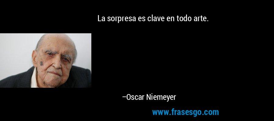 La sorpresa es clave en todo arte. – Oscar Niemeyer