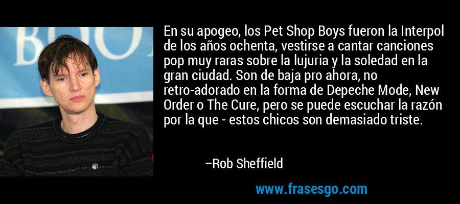 En su apogeo, los Pet Shop Boys fueron la Interpol de los años ochenta, vestirse a cantar canciones pop muy raras sobre la lujuria y la soledad en la gran ciudad. Son de baja pro ahora, no retro-adorado en la forma de Depeche Mode, New Order o The Cure, pero se puede escuchar la razón por la que - estos chicos son demasiado triste. – Rob Sheffield