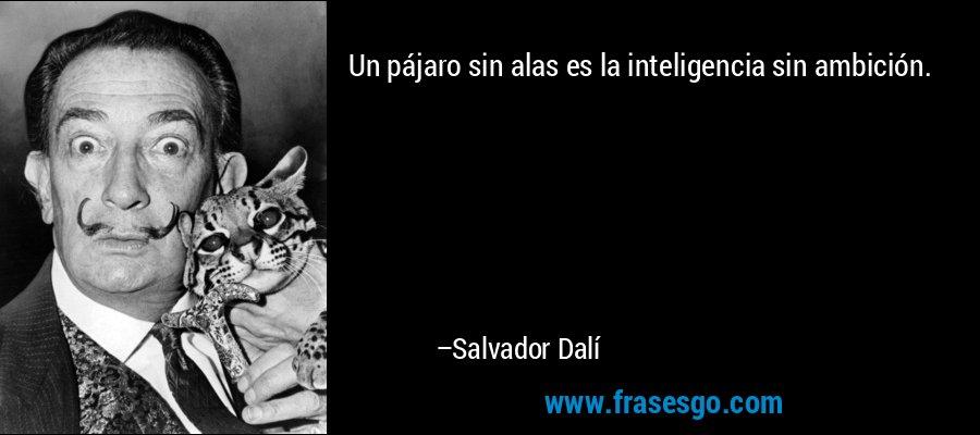 Un pájaro sin alas es la inteligencia sin ambición. – Salvador Dalí