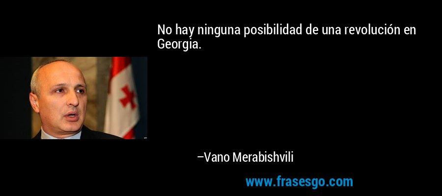 No hay ninguna posibilidad de una revolución en Georgia. – Vano Merabishvili