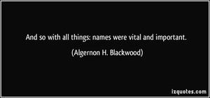 Algernon H. Blackwood