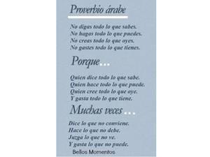 Proverbio árabe