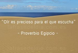 Proverbio egipcio