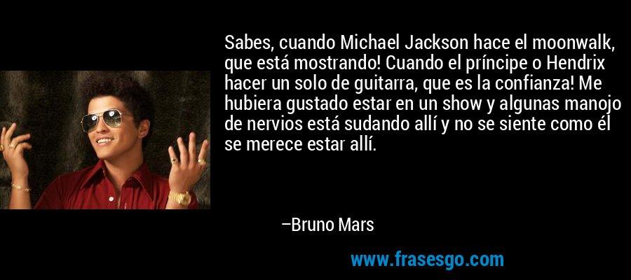 Sabes Cuando Michael Jackson Hace El Moonwalk Que Está Mos