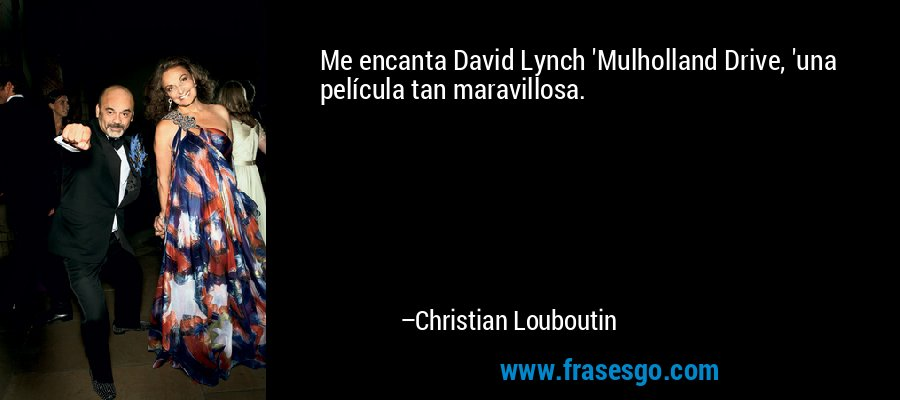 Me Encanta David Lynch Mulholland Drive Una Película Tan