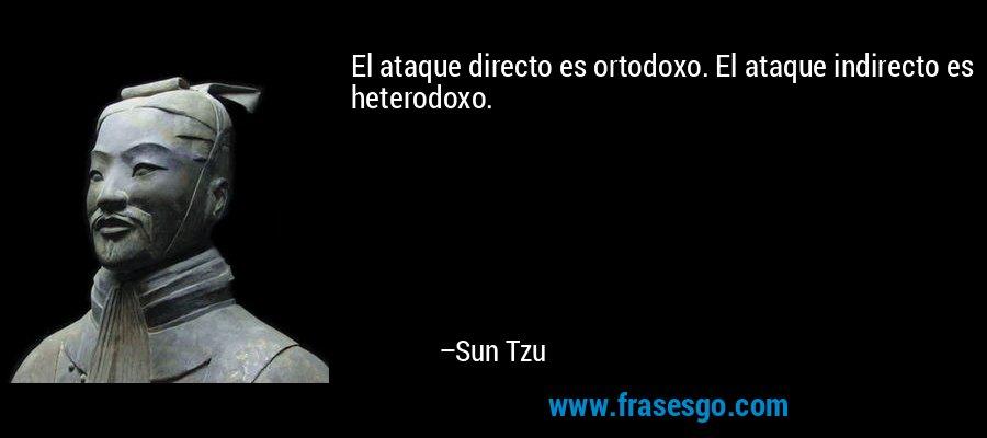 El ataque directo es ortodoxo. El ataque indirecto es heterodoxo. – Sun Tzu